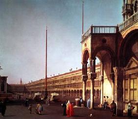 Kunstdruck von Giovanni Antonio Canal (Canaletto) - Piazza di San Marco, from the Piazetta, in Venice