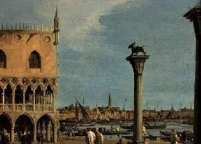Kunstdruck von Giovanni Antonio Canal (Canaletto) - The Piazzetta di San Marco Looking South, Venice