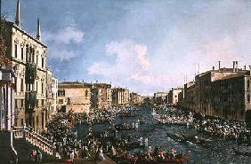 Kunstdruck von Giovanni Antonio Canal (Canaletto) - Venice: A Regatta on the Grand Canal