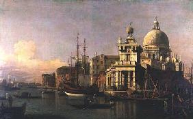 Kunstdruck von Giovanni Antonio Canal (Canaletto) - A view of the Dogana and Santa Maria della Salute