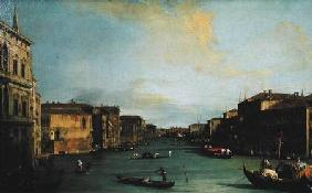Kunstdruck von Giovanni Antonio Canal (Canaletto) - View of The Grand Canal from the Rialto Bridge