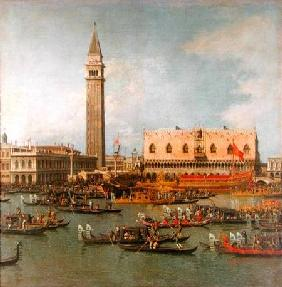 View of the Palace of St Mark, Venice, with preparations for the Doge's Wedding 18: Jh