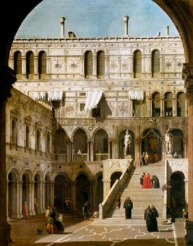 Kunstdruck von Giovanni Antonio Canal (Canaletto) - Venedig, Dogenpalast, Scala dei Giganti