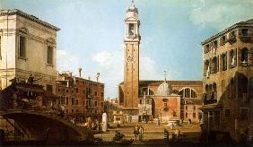 Kunstdruck von Giovanni Antonio Canal (Canaletto) - Der Campo Santi Apostoli
