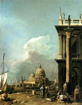 Kunstdruck von Giovanni Antonio Canal (Canaletto) - Entrance to the Grand Canal from the Piazzetta