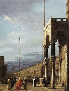 Kunstdruck von Giovanni Antonio Canal (Canaletto) - Piazza S. Marco looking West from the North End of the Piazzetta