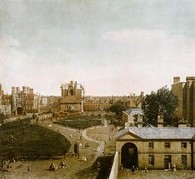 London: Whitehall and the Privy Garden from Richmond House 1747