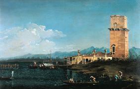 Kunstdruck von Giovanni Antonio Canal (Canaletto) - The Tower at Marghera
