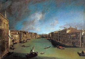Kunstdruck von Giovanni Antonio Canal (Canaletto) - Der Canal Grande vom Palazzo Balbi gegen Rialto