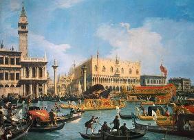 Kunstdruck von Giovanni Antonio Canal (Canaletto) - Der Buccintoro am Himmelfahrtstag