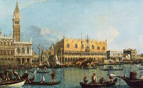 Kunstdruck von Giovanni Antonio Canal (Canaletto) - Der Dogenpalast mit der Piazzetta