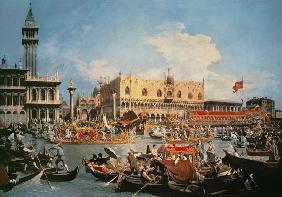 Kunstdruck von Giovanni Antonio Canal (Canaletto) - Die Rückkehr des Bucentaurs