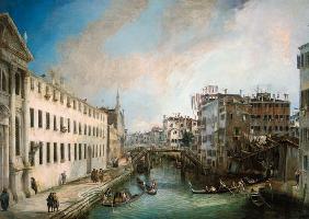 Kunstdruck von Giovanni Antonio Canal (Canaletto) - Rio dei Mendicanti
