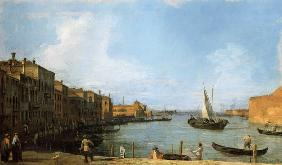 Kunstdruck von Giovanni Antonio Canal (Canaletto) - S. Chiara Canal looking North-West from the Fondamenta della Croce to the Lagoon