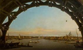 Kunstdruck von Giovanni Antonio Canal (Canaletto) - London seen through an arch of Westminster Bridge