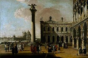 Kunstdruck von Giovanni Antonio Canal (Canaletto) - A view of the Piazzetta Looking West (pair of 63931)