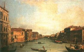 Kunstdruck von Giovanni Antonio Canal (Canaletto) - Der Canal Grande vom Palazzo Balbi