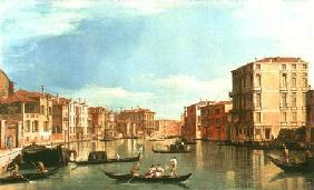 Kunstdruck von Giovanni Antonio Canal (Canaletto) - Der Canal Grande zwischen Palazzo Bembo und Palazzo Vendramin