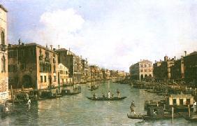 Kunstdruck von Giovanni Antonio Canal (Canaletto) - Der Canal Grande in südöstlicher Richtung zur Rialtobrücke
