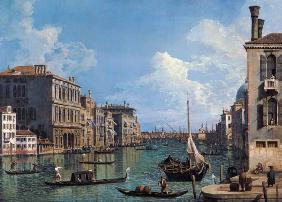 Kunstdruck von Giovanni Antonio Canal (Canaletto) - Der Canal Grande bei Campo San Vio nach der Chiesa Santa Maria della Salute