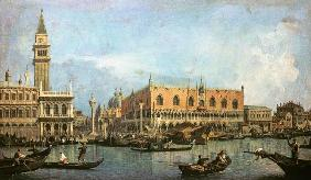 Kunstdruck von Giovanni Antonio Canal (Canaletto) - The Molo and the Piazzetta San Marco, Venice