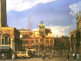 Kunstdruck von Giovanni Antonio Canal (Canaletto) - The Clocktower in the Piazza S. Marco