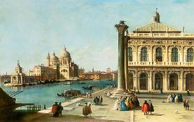Entrance to the Grand Canal, Venice, with the Piazzetta and the Church of Santa Maria della Salute