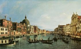 Grand Canal: looking South-West from the Chiesa degli Scalzi to the Fondamenta della Crose 1738