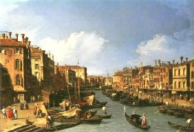 Kunstdruck von Giovanni Antonio Canal (Canaletto) - Grand Canal: looking South-West from the Rialto Bridge to the Palazzo Fosari