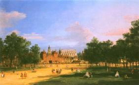 Kunstdruck von Giovanni Antonio Canal (Canaletto) - London: the Old Horse Guards and the Banqueting Hall