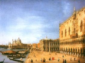 Kunstdruck von Giovanni Antonio Canal (Canaletto) - The Molo looking West
