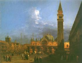 Kunstdruck von Giovanni Antonio Canal (Canaletto) - Piazza S. Marco looking East