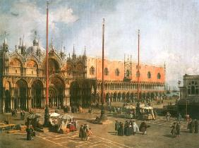 Kunstdruck von Giovanni Antonio Canal (Canaletto) - Piazza S. Marco looking South-East