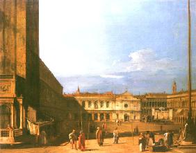 Kunstdruck von Giovanni Antonio Canal (Canaletto) - Piazza S. Marco looking West