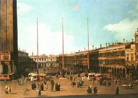 Kunstdruck von Giovanni Antonio Canal (Canaletto) - Piazza San Marco gegen San Geminiano