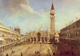Kunstdruck von Giovanni Antonio Canal (Canaletto) - Piazza San Marco