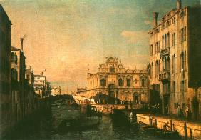 Kunstdruck von Giovanni Antonio Canal (Canaletto) - Riva die Mendicanti and the Scuola di S. Marco