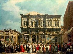Kunstdruck von Giovanni Antonio Canal (Canaletto) - Das Rochusfest