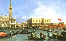 Kunstdruck von Giovanni Antonio Canal (Canaletto) - Die Rückkehr des Buccintoro, Venedig