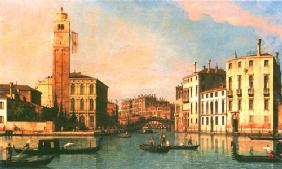 Kunstdruck von Giovanni Antonio Canal (Canaletto) - S. Geremia and the Entrance to the Cannaregio