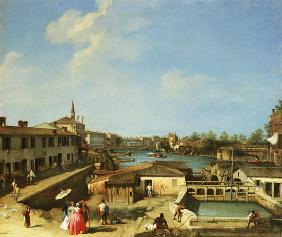 Kunstdruck von Giovanni Antonio Canal (Canaletto) - Schleusen von Dolo