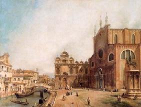 Kunstdruck von Giovanni Antonio Canal (Canaletto) - SS. Giovanni e Paolo and the Scuola di S. Marco