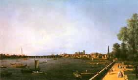 Kunstdruck von Giovanni Antonio Canal (Canaletto) - Thames from the Terrace of Somerset House, Westminster Bridge in the Distance