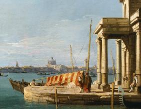 Kunstdruck von Giovanni Antonio Canal (Canaletto) - The Quay of the Dogano, Venice