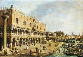 Kunstdruck von Giovanni Antonio Canal (Canaletto) - The Riva degli Schiavoni, Venice