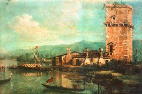 Kunstdruck von Giovanni Antonio Canal (Canaletto) - Torre di Marghera