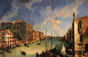 Kunstdruck von Giovanni Antonio Canal (Canaletto) - Vedute des Canal Grande vom Campo San Vio