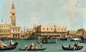 Kunstdruck von Giovanni Antonio Canal (Canaletto) - Venice from the Bacino
