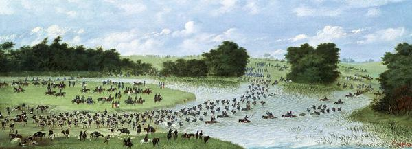 Crossing of the San Joaquin River, Paraguay 1865