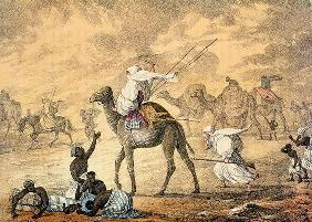 A Sand Wind on the Desert, from 'Narrative of Travels in Northern Africa in the Years 1818-19 and 18 20th